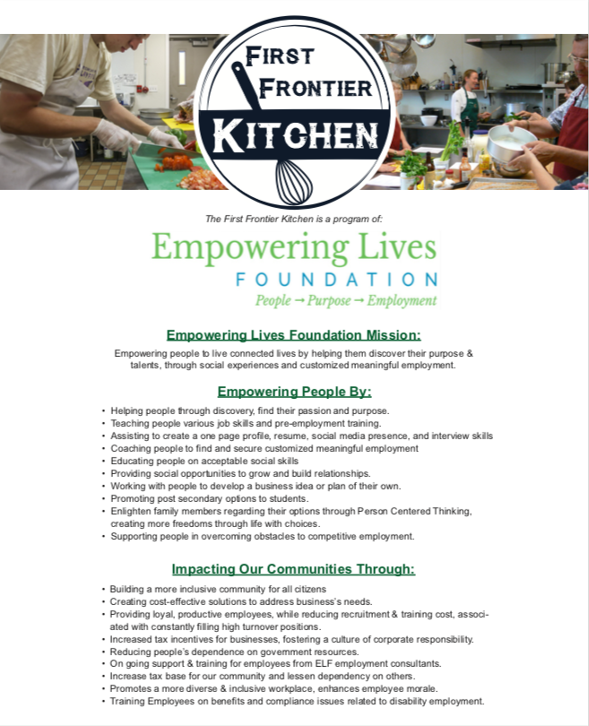 Kitchen - Empowering Lives Foundation